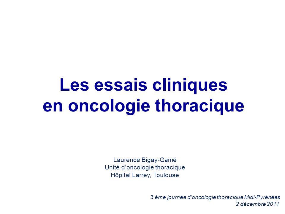 Les essais cliniques en oncologie thoracique