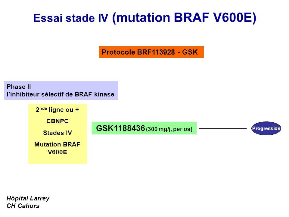 Essai stade IV (mutation BRAF V600E)