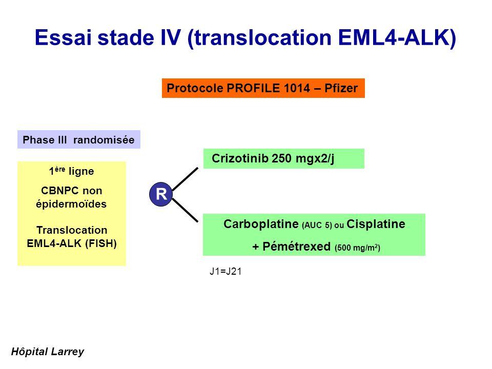 Essai stade IV (translocation EML4-ALK)
