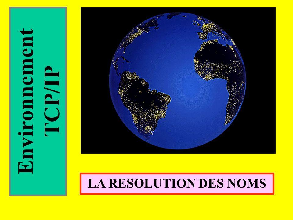 Environnement TCP/IP LA RESOLUTION DES NOMS