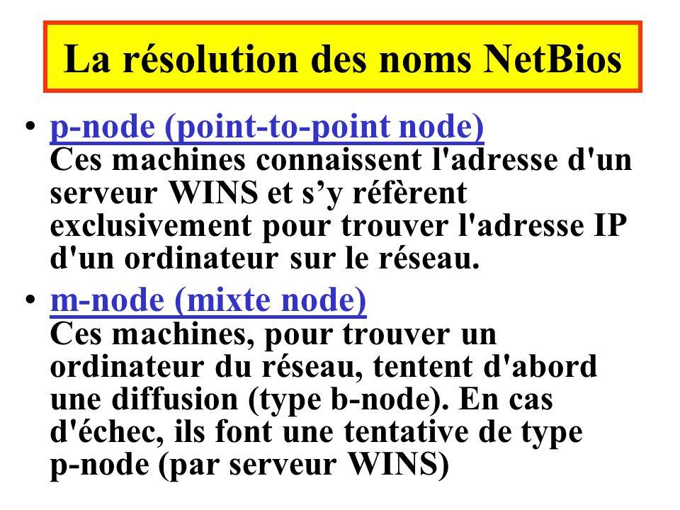 La résolution des noms NetBios