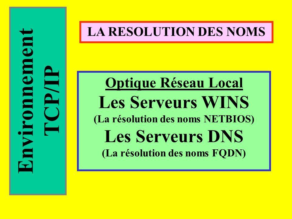 (La résolution des noms NETBIOS) (La résolution des noms FQDN)