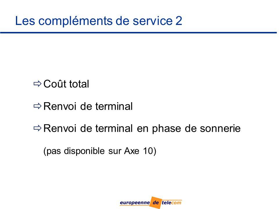 Les compléments de service 2
