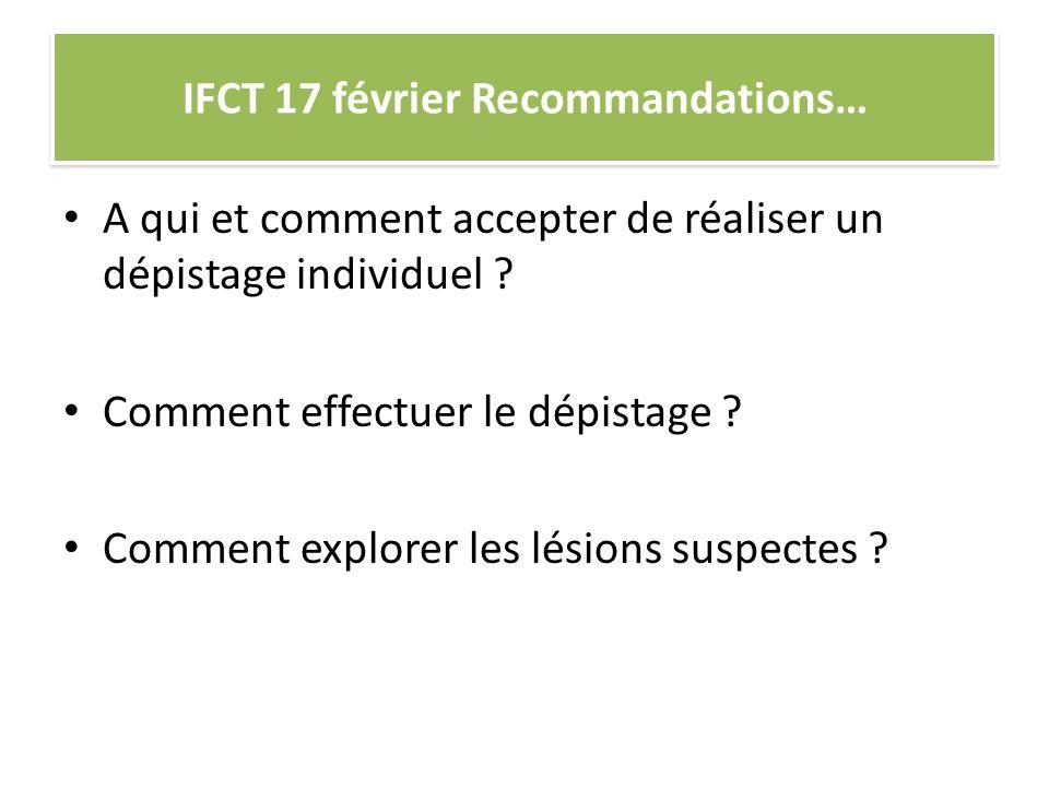 IFCT 17 février Recommandations…
