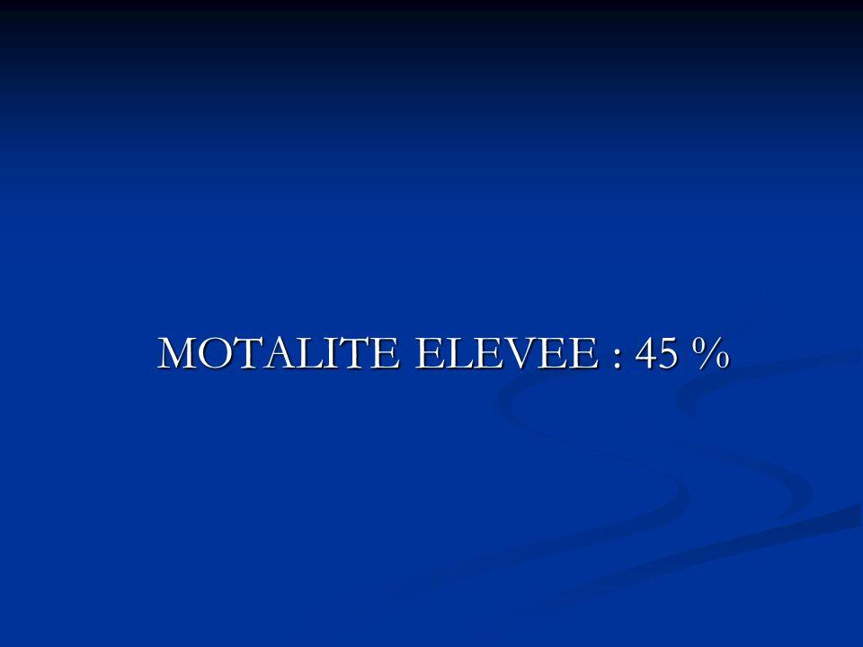 MOTALITE ELEVEE : 45 %