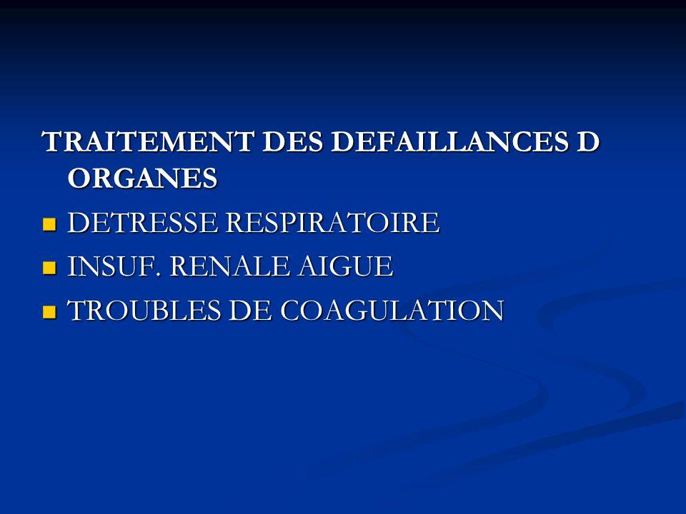 TRAITEMENT DES DEFAILLANCES D ORGANES