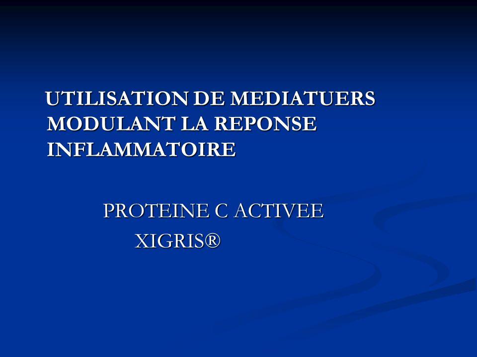 UTILISATION DE MEDIATUERS MODULANT LA REPONSE INFLAMMATOIRE