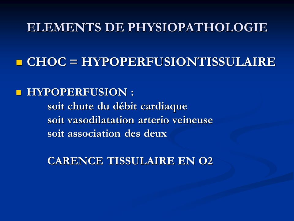 ELEMENTS DE PHYSIOPATHOLOGIE