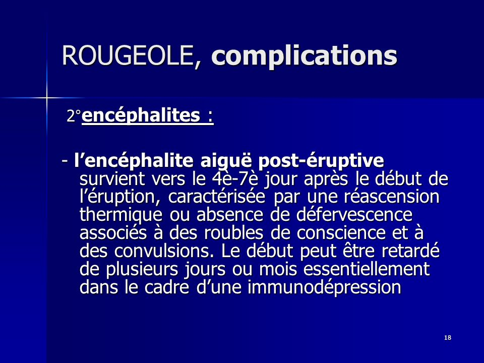 ROUGEOLE, complications