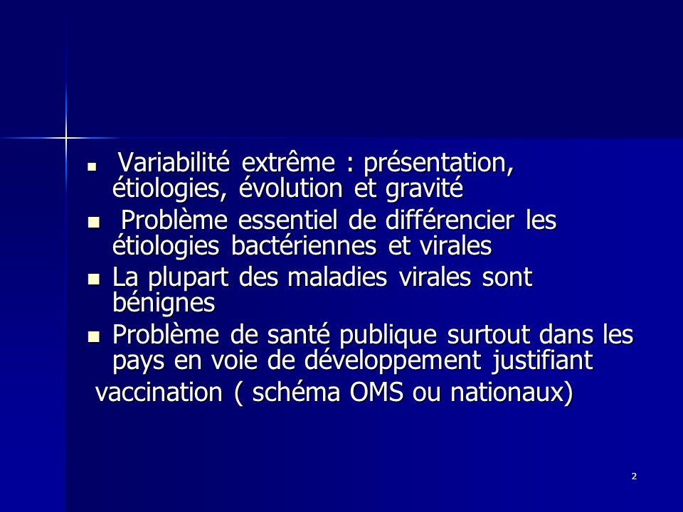 La plupart des maladies virales sont bénignes