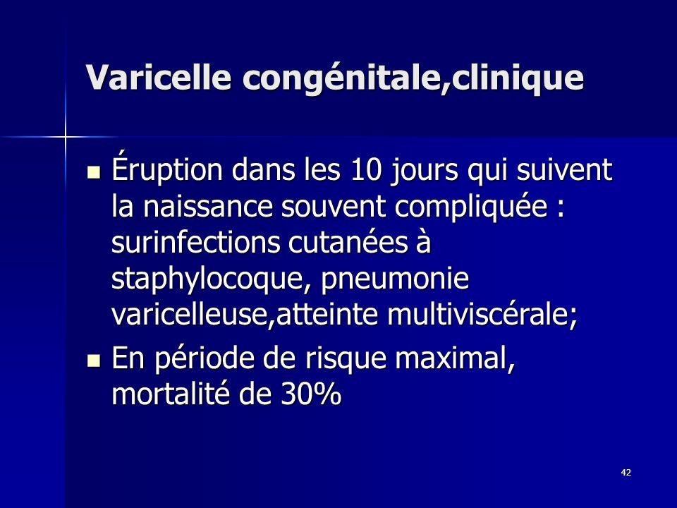 Varicelle congénitale,clinique
