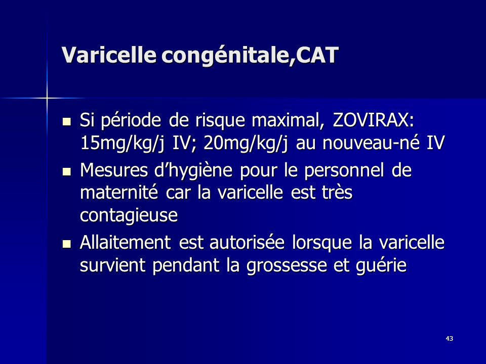 Varicelle congénitale,CAT