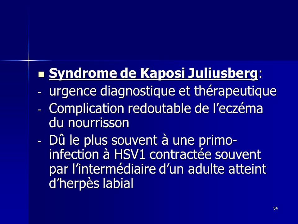 Syndrome de Kaposi Juliusberg: