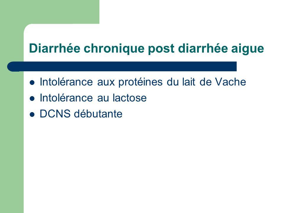 Diarrhée chronique post diarrhée aigue