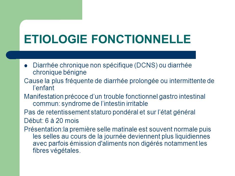 ETIOLOGIE FONCTIONNELLE
