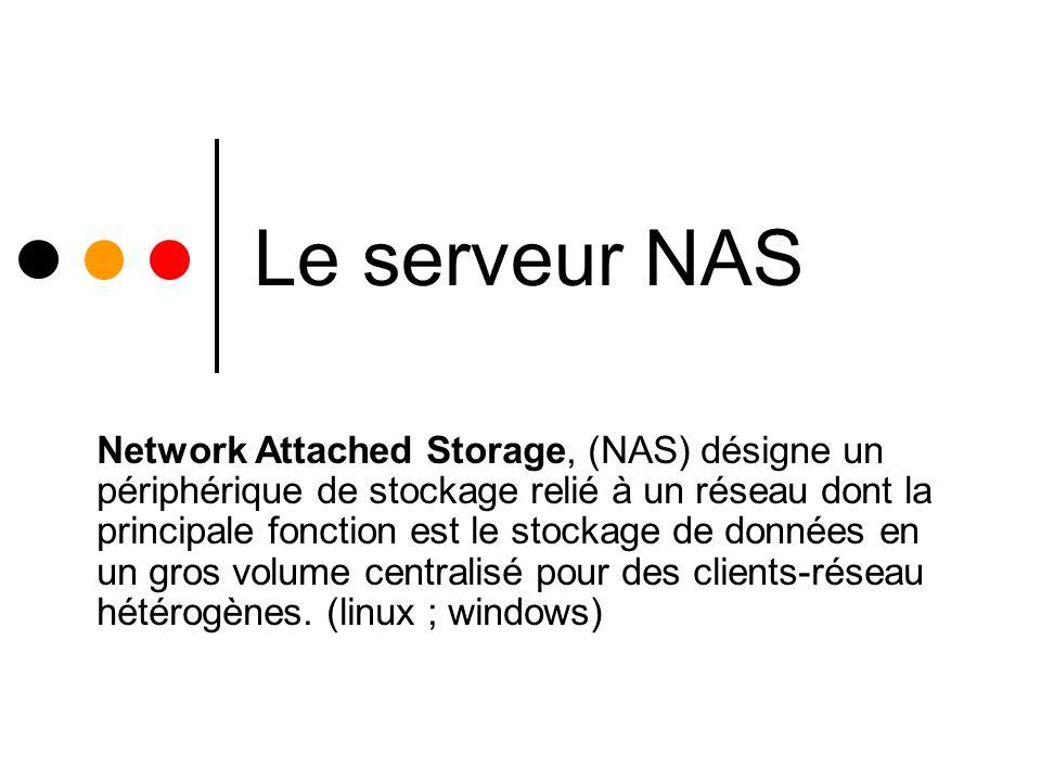 Le serveur NAS