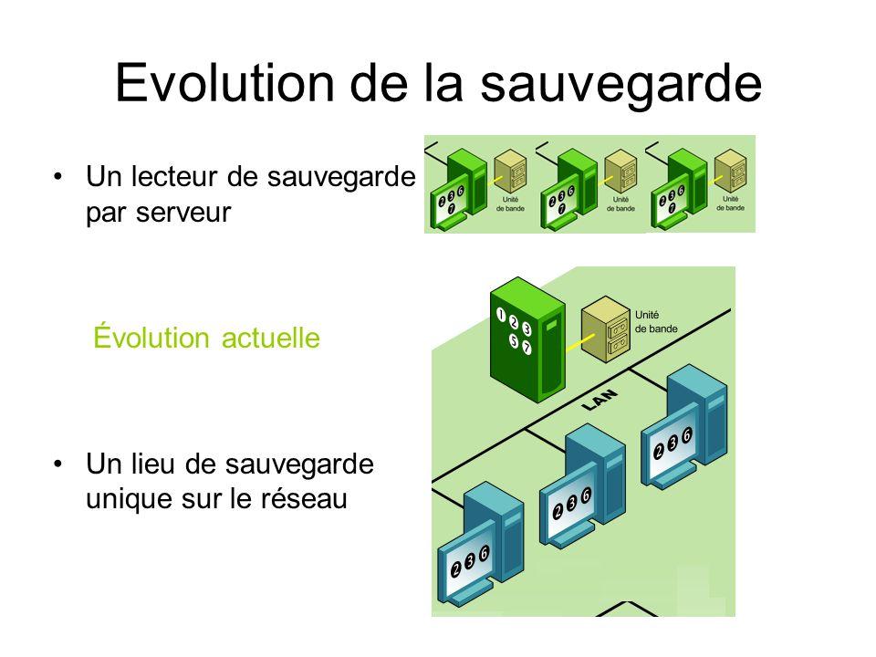 Evolution de la sauvegarde