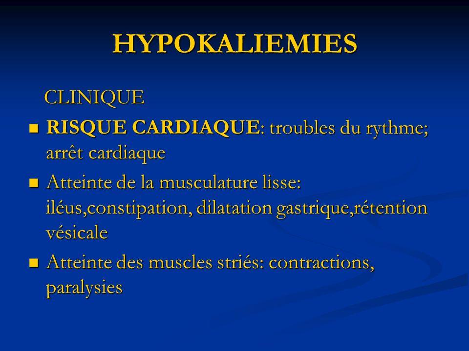 HYPOKALIEMIES CLINIQUE
