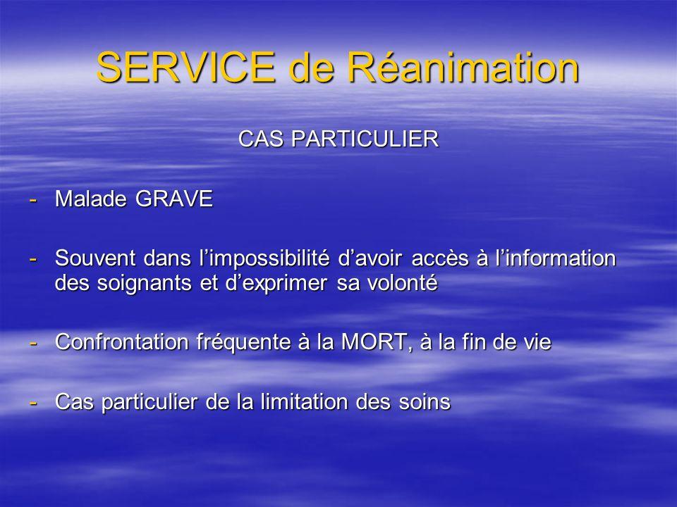 SERVICE de Réanimation