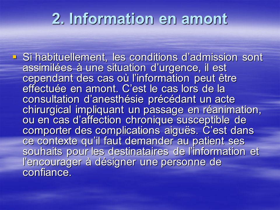 2. Information en amont