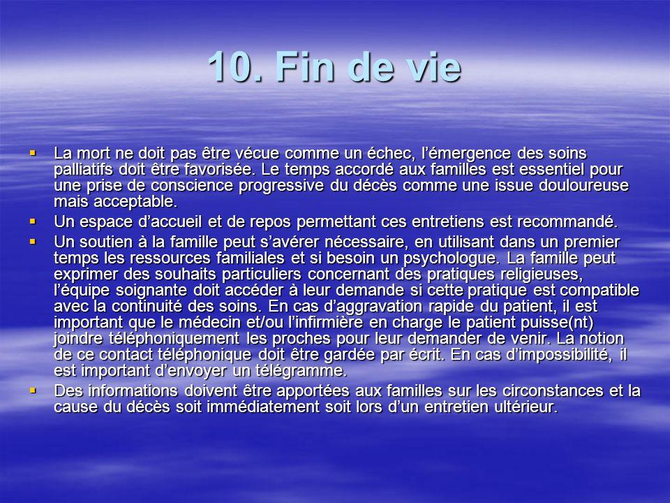 10. Fin de vie
