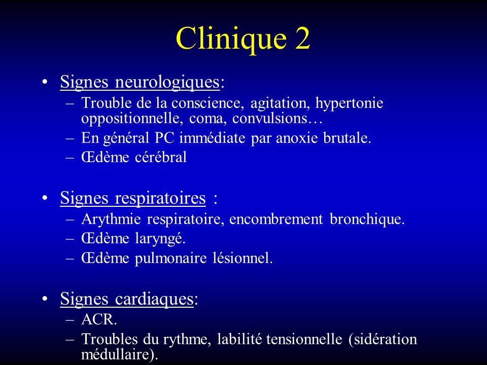Clinique 2 Signes neurologiques: Signes respiratoires :