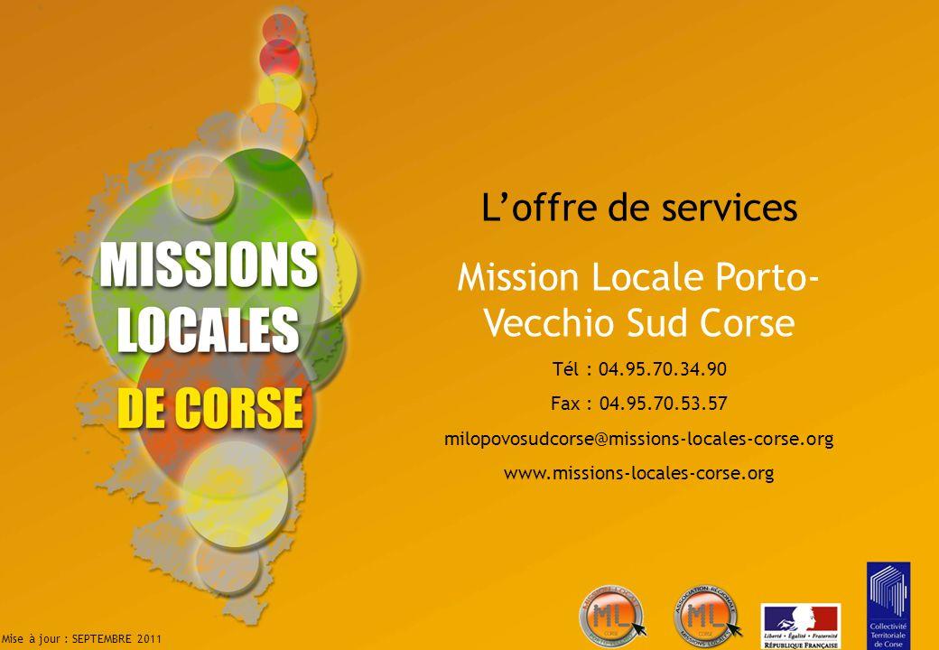 Mission Locale Porto-Vecchio Sud Corse