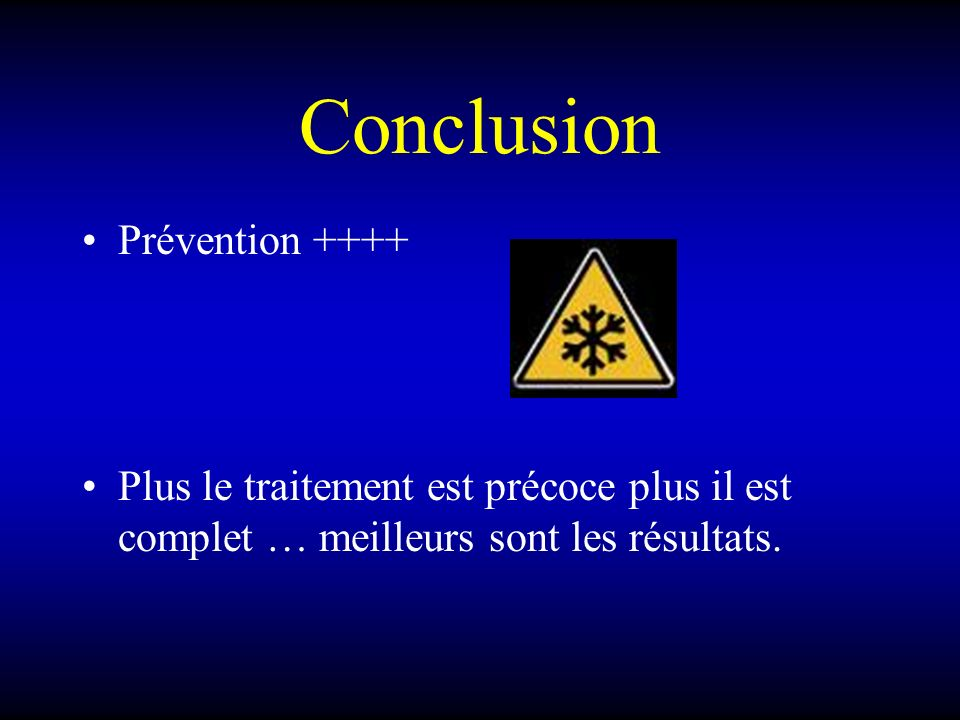Conclusion Prévention ++++