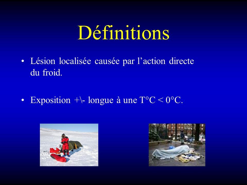 Définitions Lésion localisée causée par l'action directe du froid.