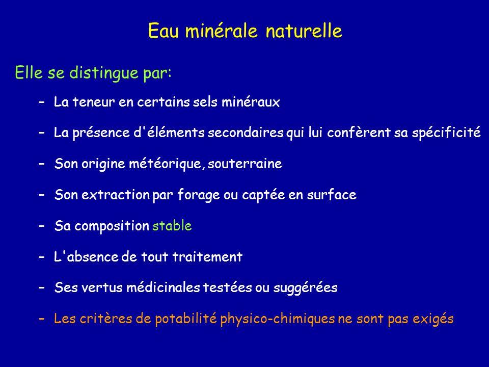 Eau minérale naturelle