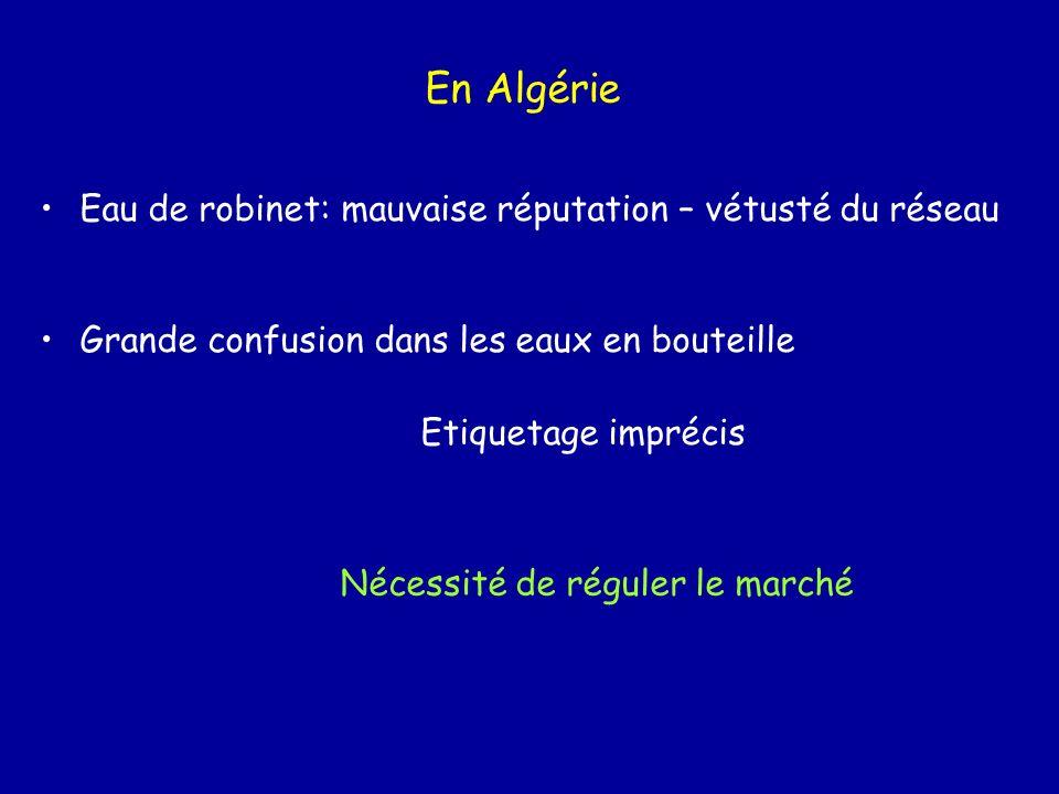 En Algérie Eau de robinet: mauvaise réputation – vétusté du réseau