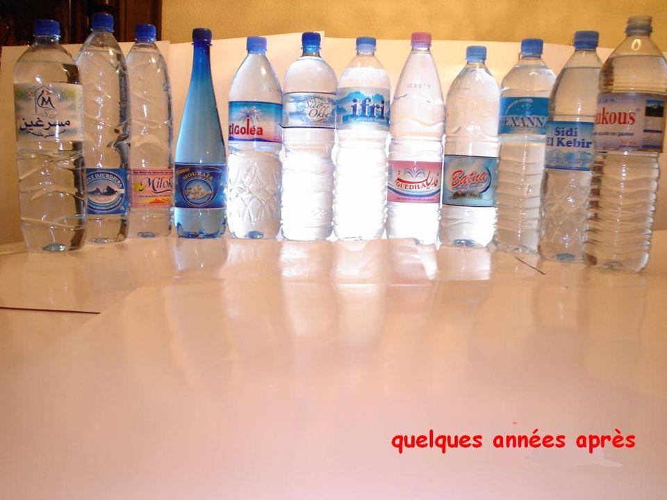 Il en est tout autrement avec l ouverture du marché et la prolifération des eaux en bouteille dont voici un échantillonnage non exhaustif.