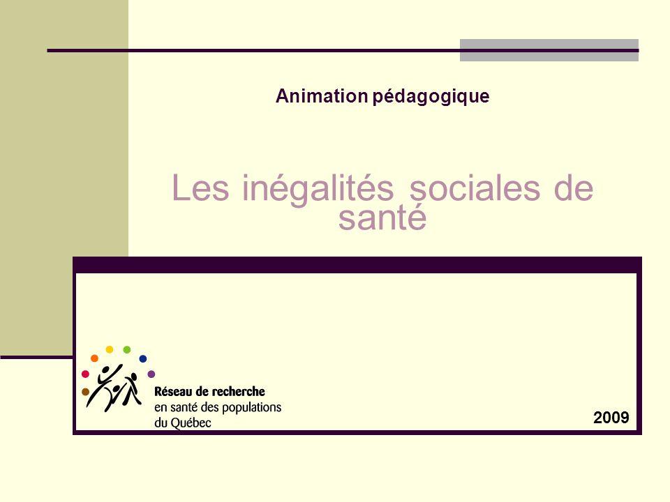 Animation pédagogique Les inégalités sociales de santé