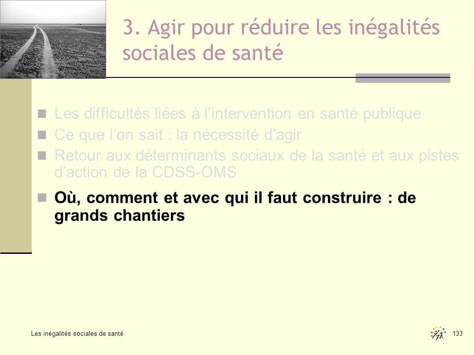 3. Agir pour réduire les inégalités sociales de santé