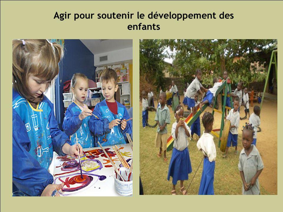 Agir pour soutenir le développement des enfants