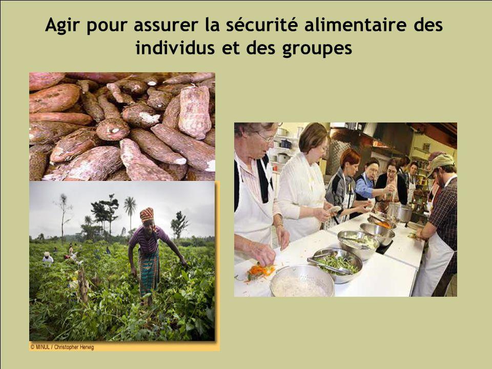 Agir pour assurer la sécurité alimentaire des individus et des groupes