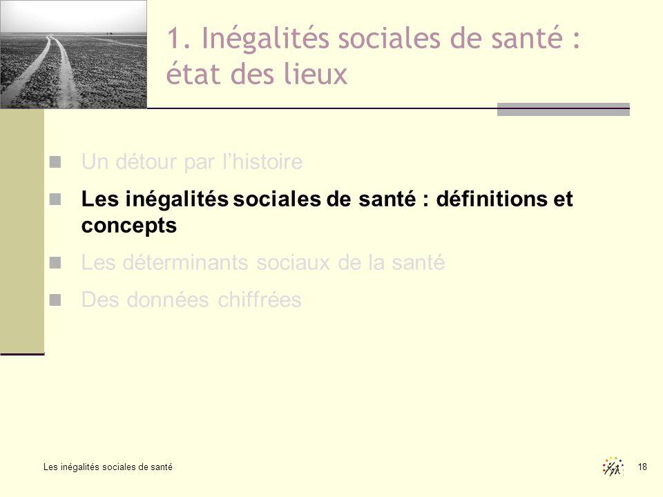 1. Inégalités sociales de santé : état des lieux