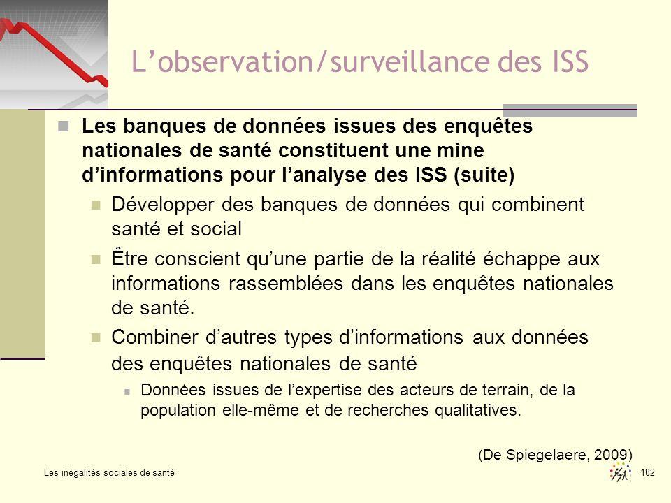 L'observation/surveillance des ISS