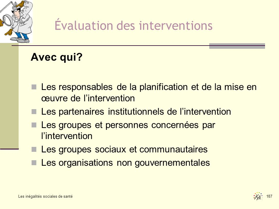 Évaluation des interventions