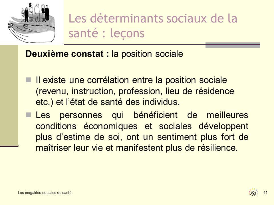 Les déterminants sociaux de la santé : leçons