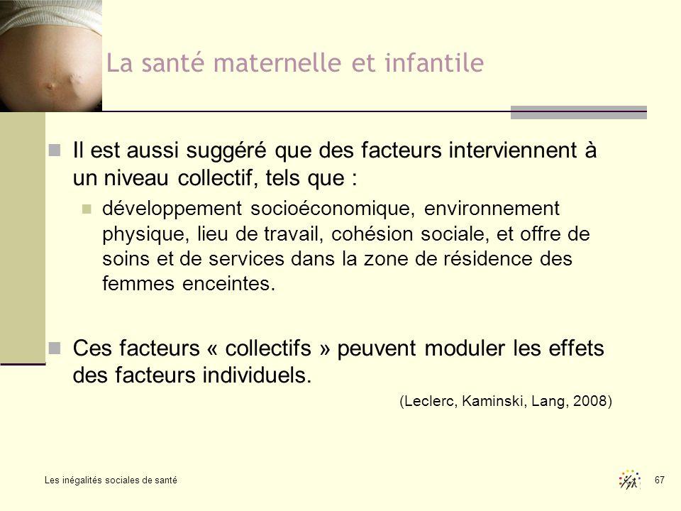 La santé maternelle et infantile