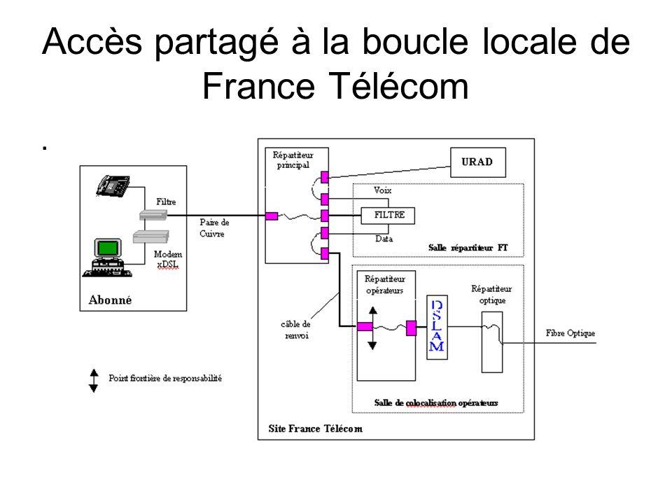 Accès partagé à la boucle locale de France Télécom