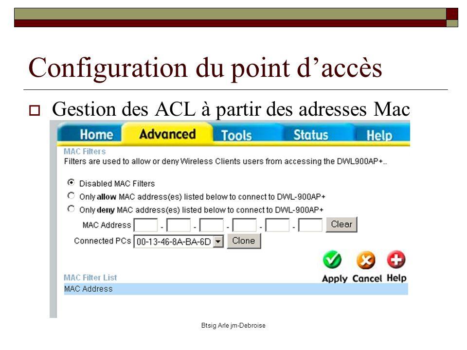 Configuration du point d'accès