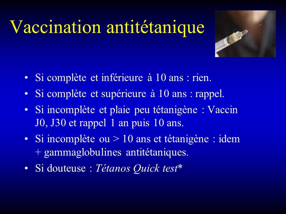 Vaccination antitétanique