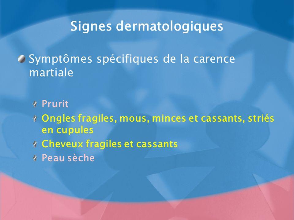 Signes dermatologiques