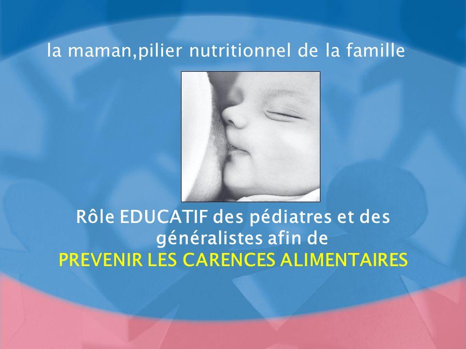 la maman,pilier nutritionnel de la famille