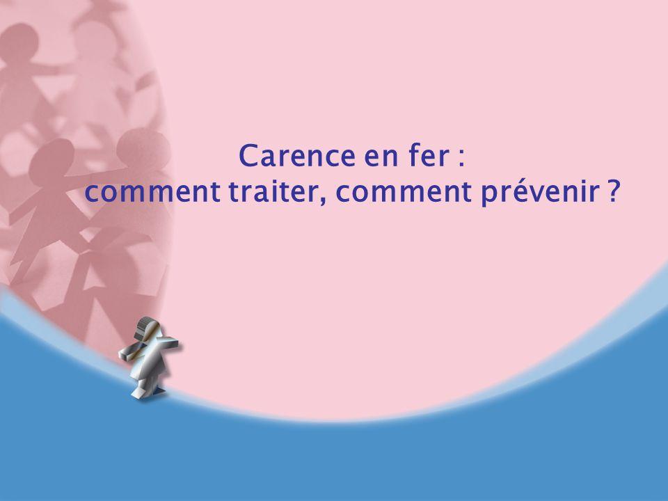 Carence en fer : comment traiter, comment prévenir