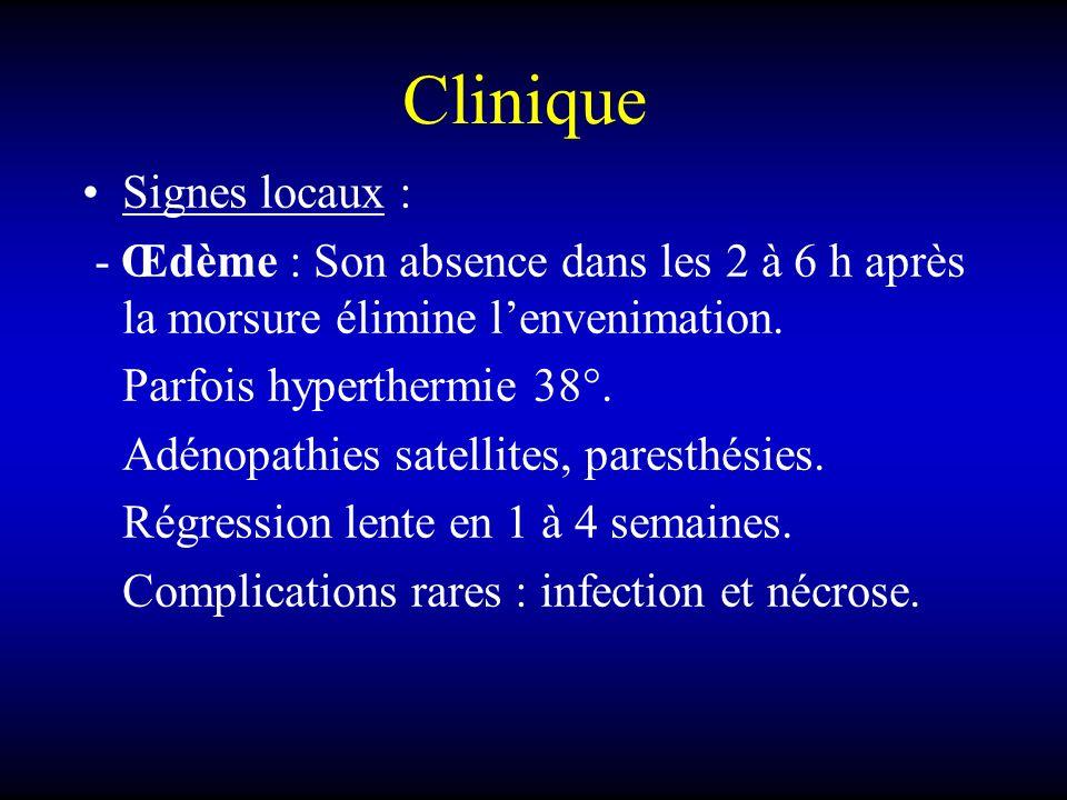 Clinique Signes locaux :
