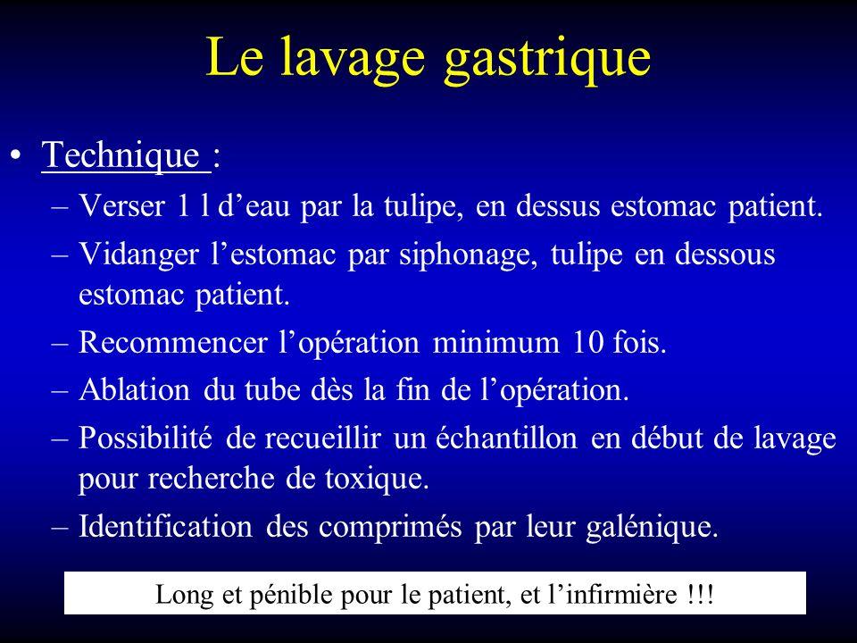 Long et pénible pour le patient, et l'infirmière !!!