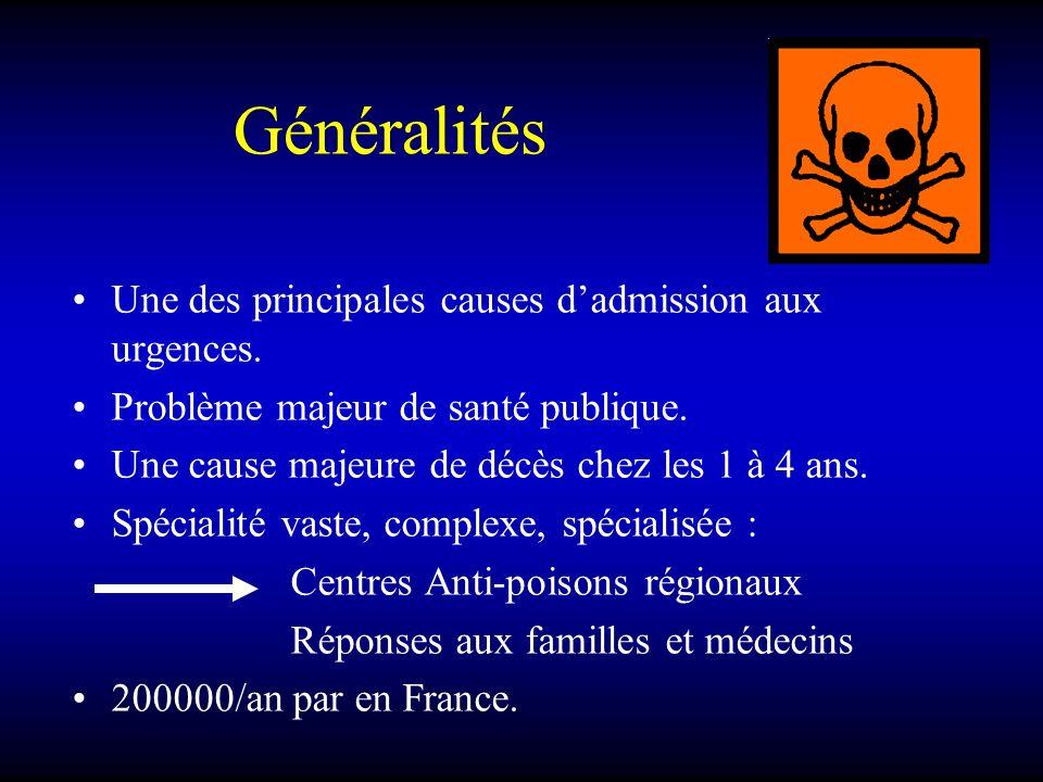 Généralités Une des principales causes d'admission aux urgences.
